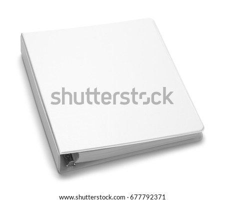 File Folder Binder with Copy Space Isolated on White Background.
