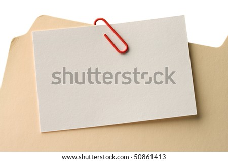 File folder clipped with a blank attachment.