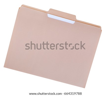 File folder for compiling info on various subjects #664319788