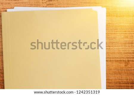 File Folder with Documents #1242351319