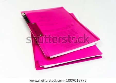 file folder with documents and important document on isolated background #1009018975
