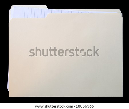 File folder with note paper