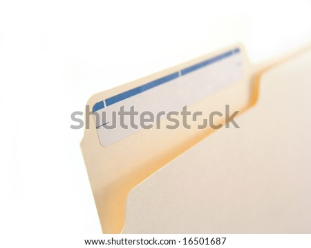 file folder with sticker - stock photo