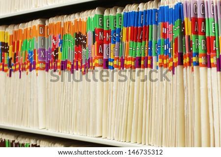 File folders Stock photo ©
