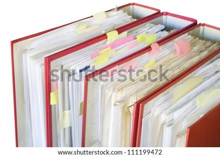 file folders, a little bit messy