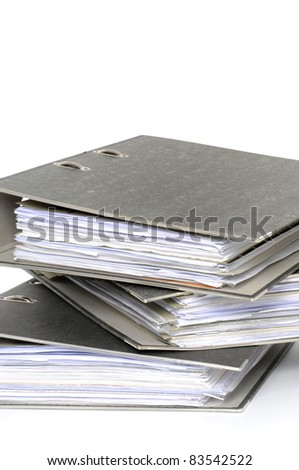 File folders in front of white background
