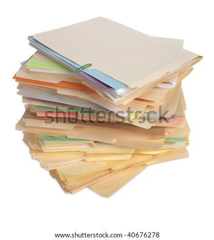 File Folders Isolated