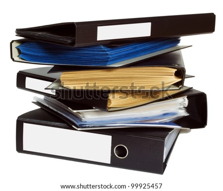 File folders, isolated on white background.