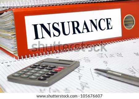 file marked with insurance