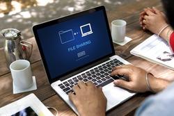 File Sharing Data Media Internet Technology Concept