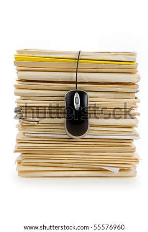 File Stack, Computer Mouse, business concept