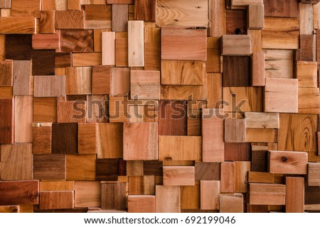 File textured of wood cube background use for multipurpose shape and textured wooden backdrop #692199046