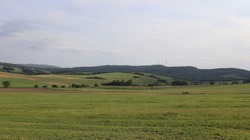 fileds and grasslands in rustical area