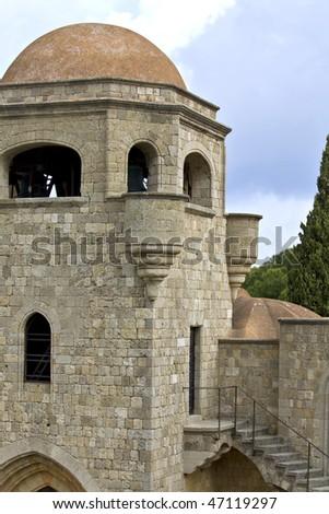 Filerimos monastery at Rhodes island, Greece