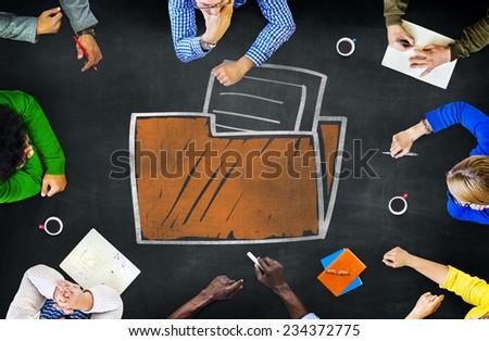 Files Folder Storage Information Database Directory Archive Concept