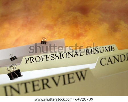 Files with professional resume