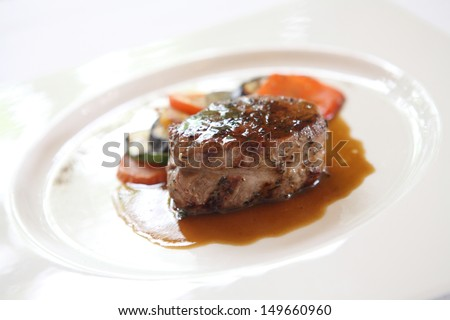 Filet mignon beef steak