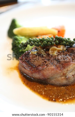 Filet mignon beef steak