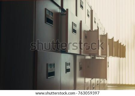 Filing cabinet at sunshine