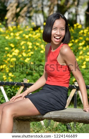 Filipina Female And Laughter #1224146689