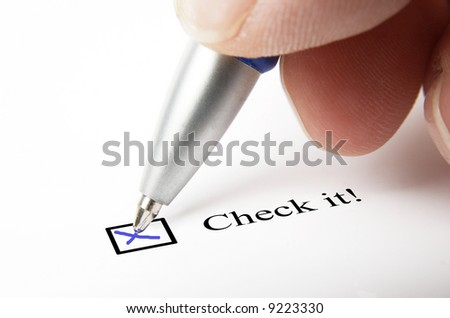 filled out checkbox