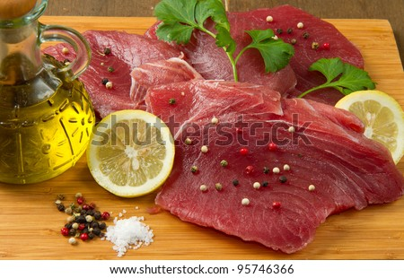 fillet of fresh tuna