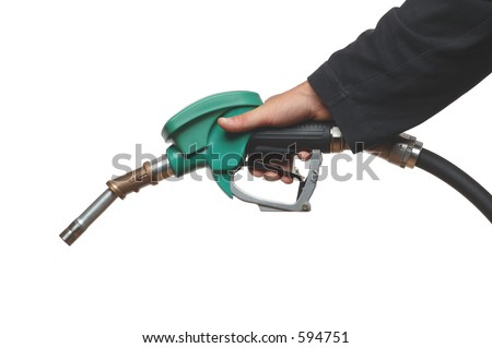 filling gas on white