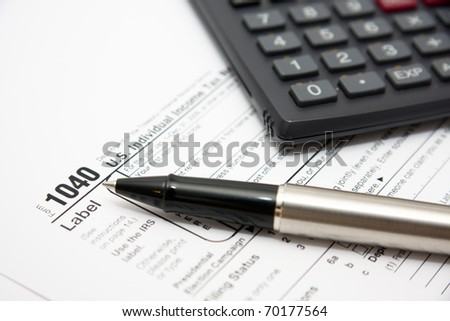 Filling in tax form 1040 for year 2010