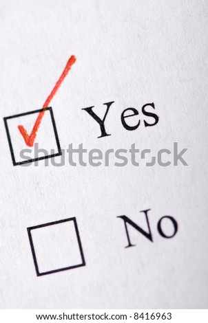 Filling out a customer service survey form. - stock photo