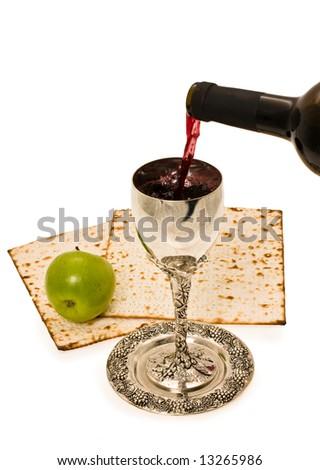 filling ritual wine cup in the Sabbath