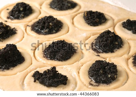Filling the Hamantashen - A cookie eaten in the holiday of Purim