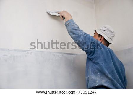 Filling walls. House repair.