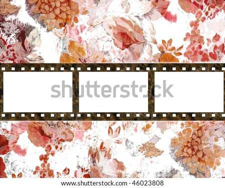 Film background in grunge style