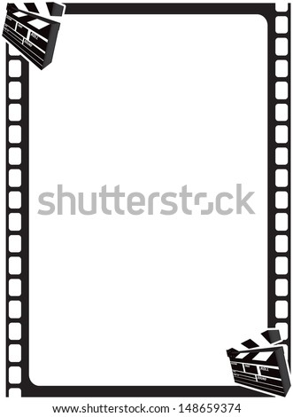 Film border with clapperboard graphic