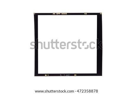 film borders, Blank medium format (6x6) color film frame