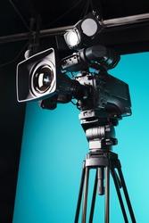 Film camera in the studio