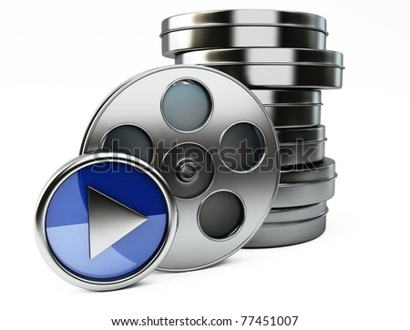film cans - stock photo