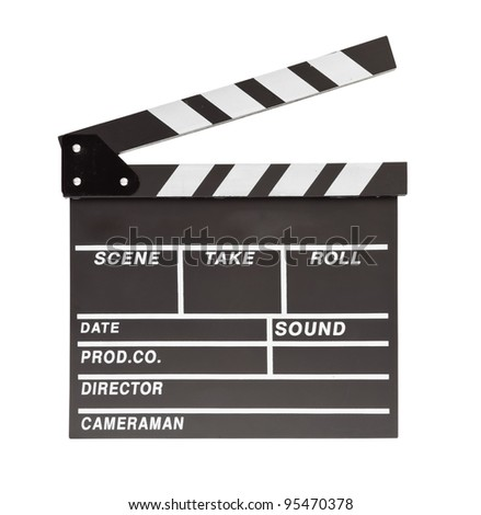 film clapper  board with space