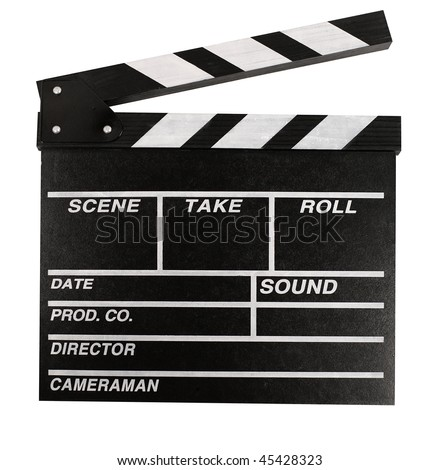 Film Clapperboard. Isolated over white background with clipping path