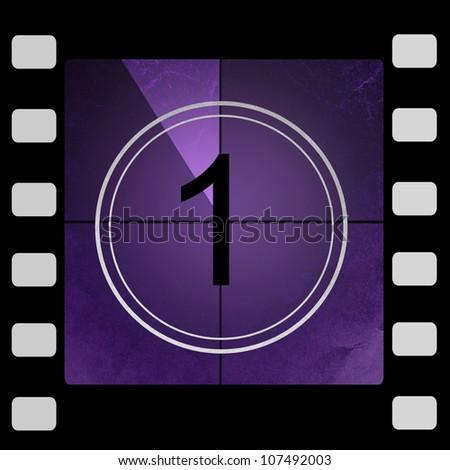 Film countdown 1 - stock photo