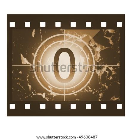 Film countdown in sepia design at No 0