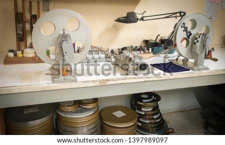 Film cutting Negative films desk #1397989097
