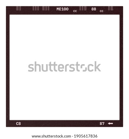 Film frame photo strip high-resolution blank filter. 35mm scan template texture effect. Trendy editable camera roll social stories design. 135 type isolated vintage analog cinema empty scratches. Stock fotó ©