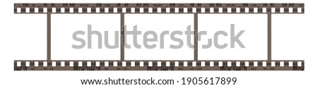 Film frame photo strip high-resolution blank filter. 35mm scan template texture effect. Trendy editable camera roll social stories design. 135 type isolated vintage analog cinema empty scratches. Stockfoto ©