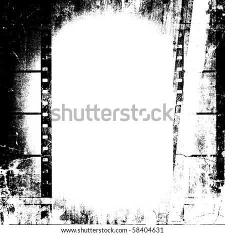 Film Grunge With Copy Space - stock photo