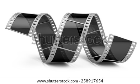 Film isolated on white