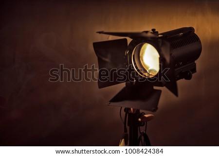 Film light on