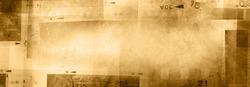 Film negative frames brown background. Copy space