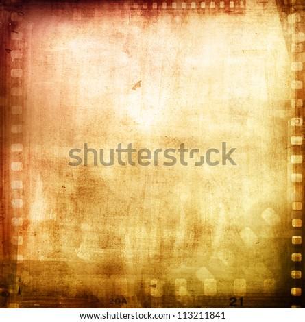 Film negatives frame, advertising copy space