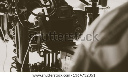 Film production crew,Behind the scenes background #1364732051